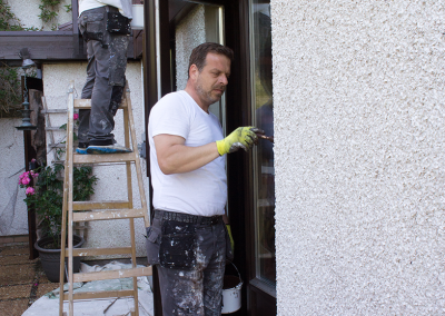Bert's Decorating exterior painting team